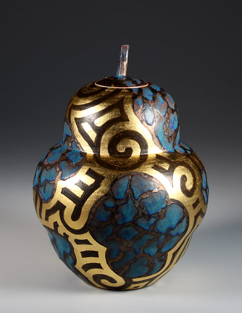 Jar with gold leaf