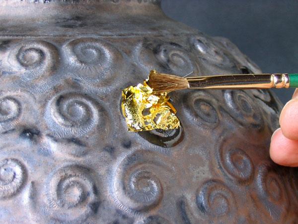 Steve Irvine Potter How To Apply Gold Leaf