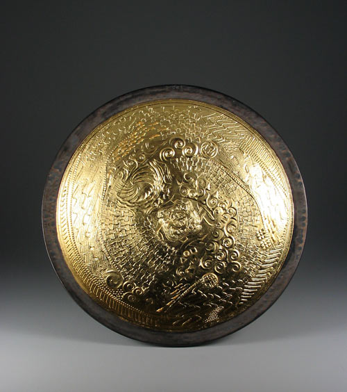Double wall bowl with gold leaf