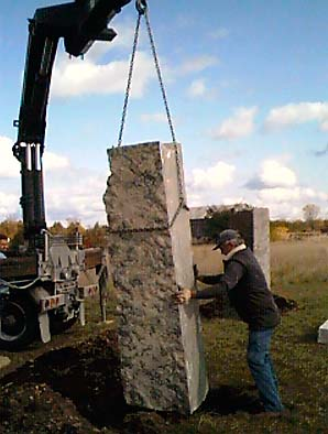 Placing the megaliths